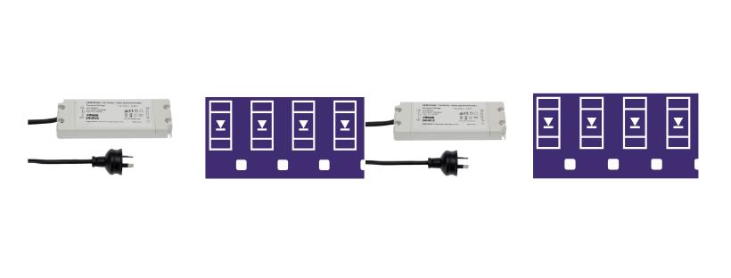 Sử dụng nhiều nguồn để cấp điện cho dây LED